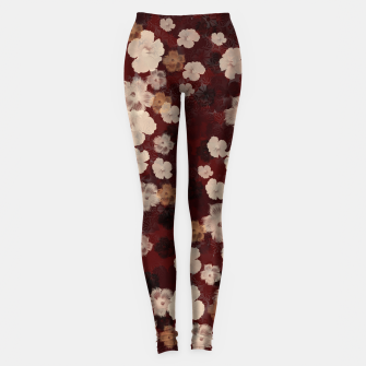 Thumbnail image of elegant flower Hibiscus red with Japanese traditional Kamon decoration like Kimono Leggings, Live Heroes