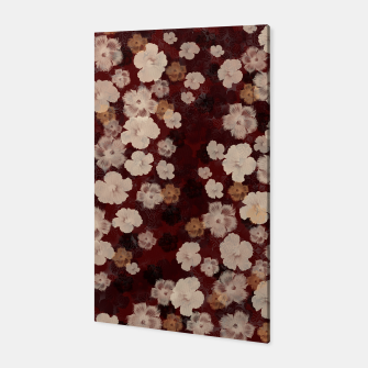Thumbnail image of elegant flower Hibiscus red with Japanese traditional Kamon decoration like Kimono Canvas, Live Heroes