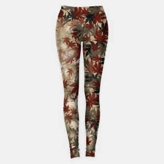 Thumbnail image of red leaf autumn Japanese Momiji Leggings, Live Heroes