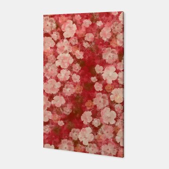 Thumbnail image of elegant flower Hibiscus pink with Japanese Kamon decoration like Kimono Canvas, Live Heroes