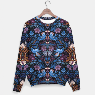 Thumbnail image of Floral pattern. Vintage pattern. Luxury garden blue bird lux pattern  Sweater, Live Heroes