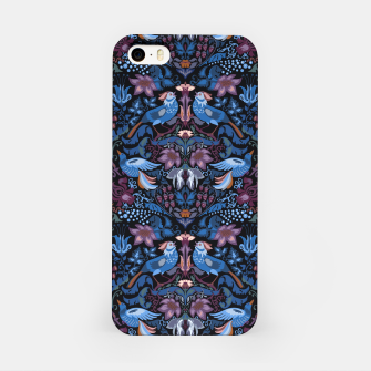 Miniatur Floral pattern. Vintage pattern. Luxury garden blue bird lux pattern  iPhone Case, Live Heroes