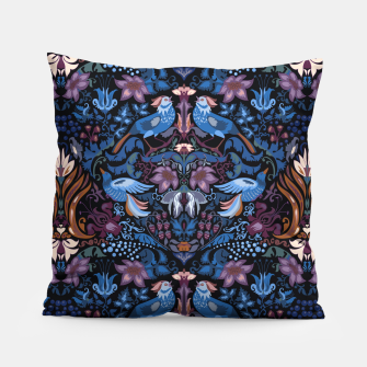 Thumbnail image of Floral pattern. Vintage pattern. Luxury garden blue bird lux pattern  Pillow, Live Heroes