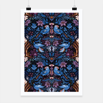 Thumbnail image of Floral pattern. Vintage pattern. Luxury garden blue bird lux pattern  Poster, Live Heroes