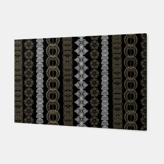 Thumbnail image of Japanese traditional Kamon line black gold Canvas, Live Heroes