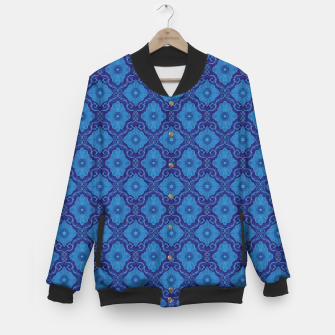 Thumbnail image of Blue Flowers, vintage floral pattern Baseball Jacket, Live Heroes
