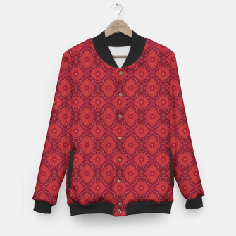 Thumbnail image of Red Flowers, floral arabesque Baseball Jacket, Live Heroes