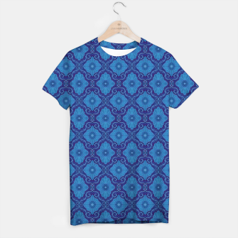 Thumbnail image of Blue Flowers, vintage floral pattern T-shirt, Live Heroes