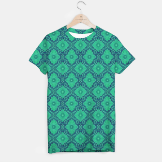 Thumbnail image of Green Flowers, vintage floral pattern T-shirt, Live Heroes