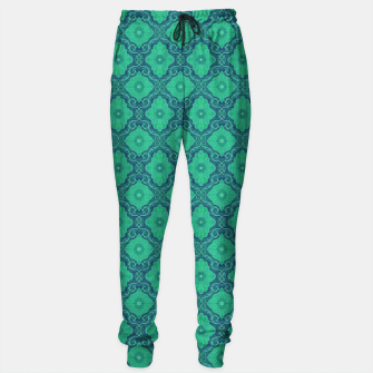 Thumbnail image of Green Flowers, vintage floral pattern Sweatpants, Live Heroes