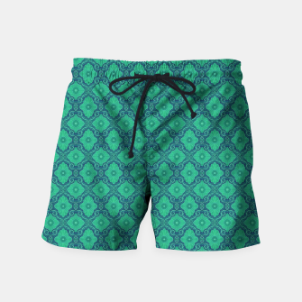Thumbnail image of Green Flowers, vintage floral pattern Swim Shorts, Live Heroes
