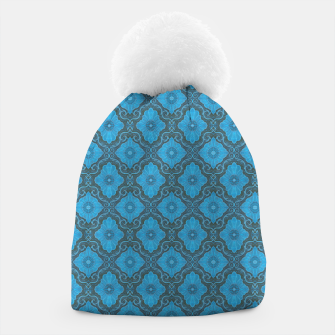 Thumbnail image of Sky-blue Flowers Beanie, Live Heroes