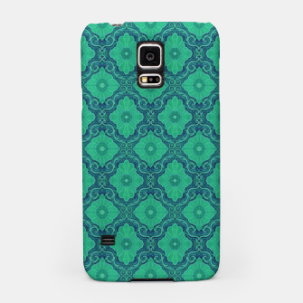 Thumbnail image of Green Flowers, vintage floral pattern Samsung Case, Live Heroes