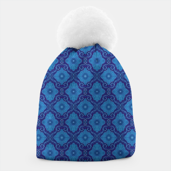 Thumbnail image of Blue Flowers, vintage floral pattern Beanie, Live Heroes
