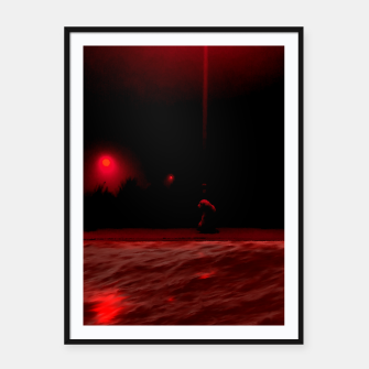 Miniaturka Red Sea poster black frame, Live Heroes