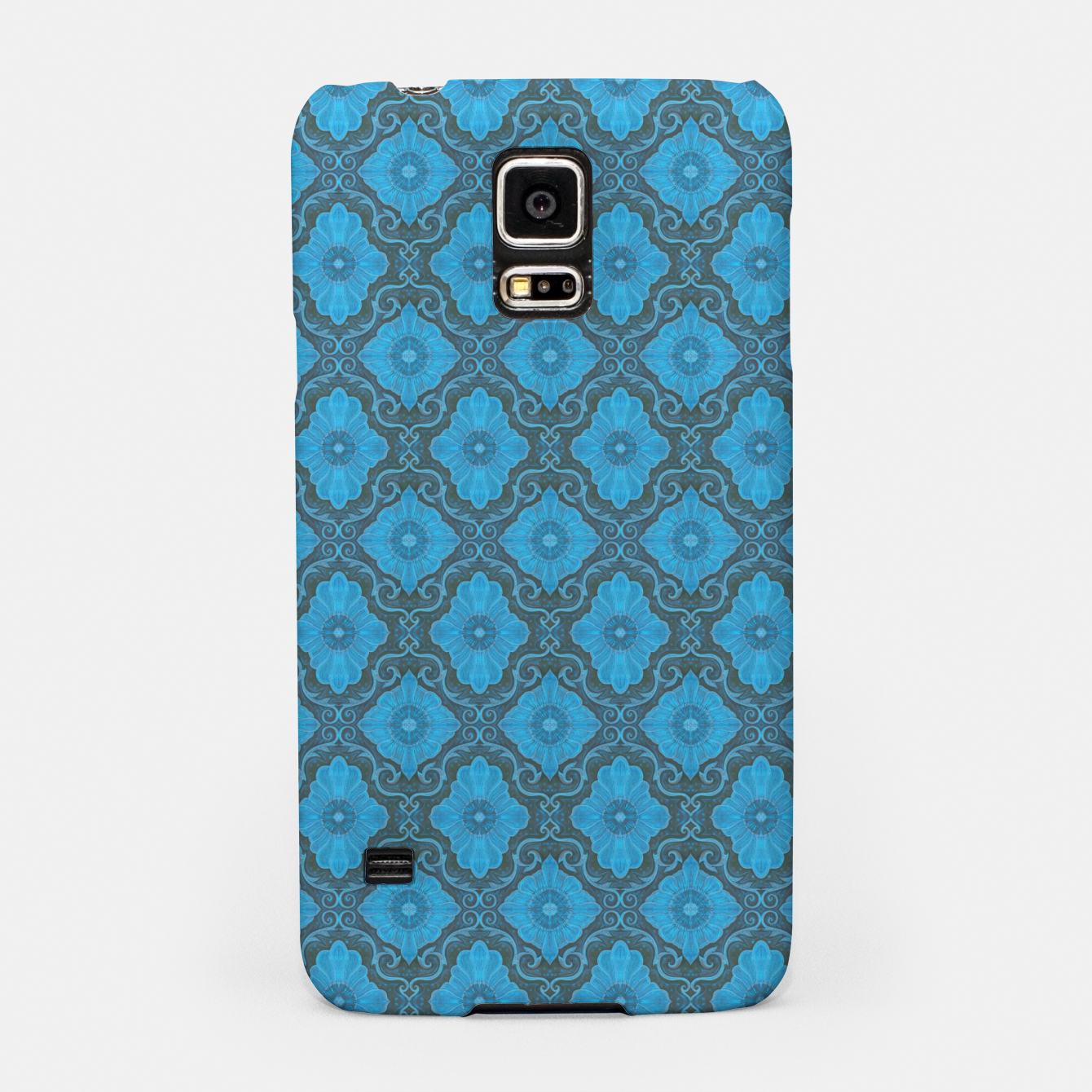 Image of Sky-blue Flowers Samsung Case - Live Heroes