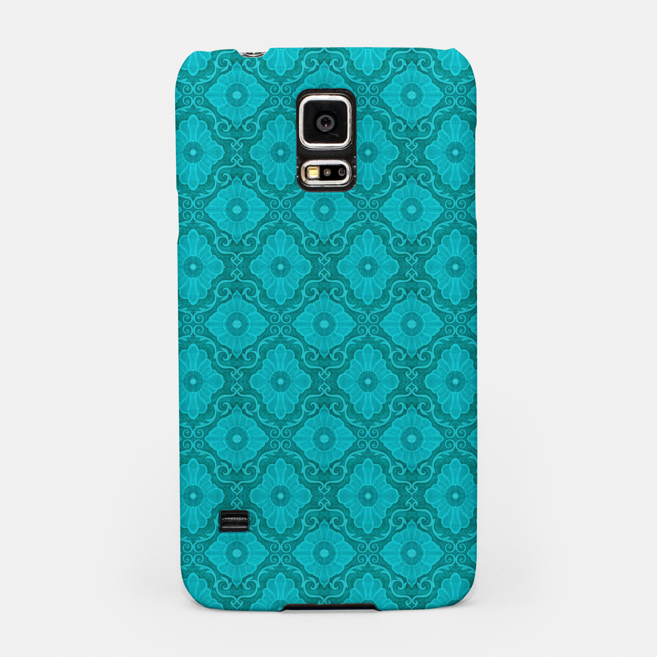 Image of Turquoise flowers, floral pattern Samsung Case - Live Heroes