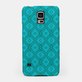 Thumbnail image of Turquoise flowers, floral pattern Samsung Case, Live Heroes