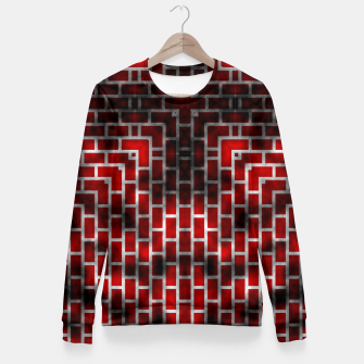 Thumbnail image of Smoked Fire Red Brick Fitted Waist Sweater, Live Heroes