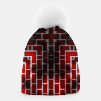 Thumbnail image of Smoked Fire Red Brick Beanie, Live Heroes