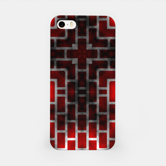Thumbnail image of Smoked Fire Red Brick iPhone Case, Live Heroes