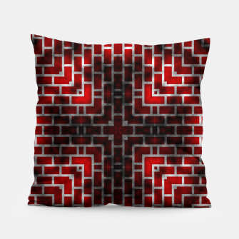 Thumbnail image of Smoked Fire Red Brick Pillow, Live Heroes