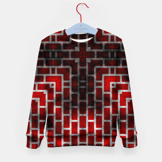 Thumbnail image of Smoked Fire Red Brick Kid's Sweater, Live Heroes