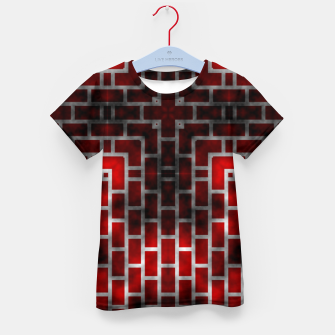 Thumbnail image of Smoked Fire Red Brick Kid's T-shirt, Live Heroes