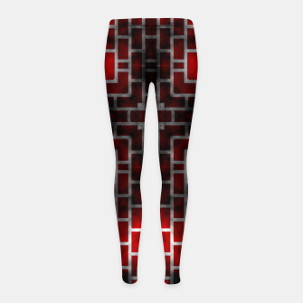 Thumbnail image of Smoked Fire Red Brick Girl's Leggings, Live Heroes