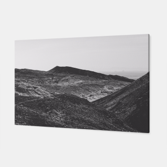 Thumbnail image of summer view with mountain in the desert in black and white Canvas, Live Heroes