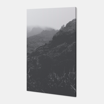 Thumbnail image of mountain in the forest with foggy sky in black and white Canvas, Live Heroes