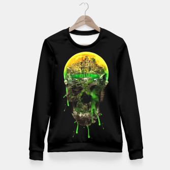 Thumbnail image of Haunted Skull Fitted Waist Sweater, Live Heroes