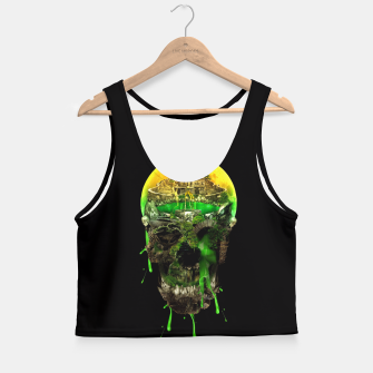 Thumbnail image of Haunted Skull Crop Top, Live Heroes