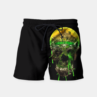 Thumbnail image of Haunted Skull Swim Shorts, Live Heroes