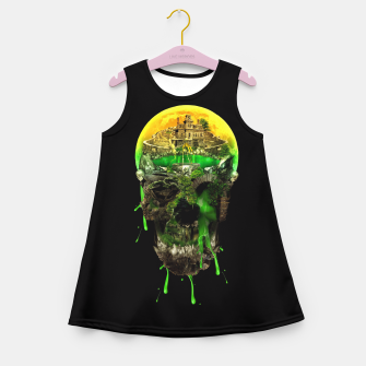 Haunted Skull Girl's Summer Dress thumbnail image