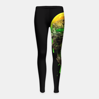 Haunted Skull Girl's Leggings thumbnail image