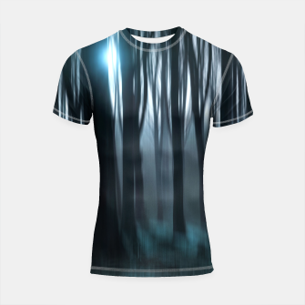 Thumbnail image of Dark Forest Shortsleeve Rashguard, Live Heroes