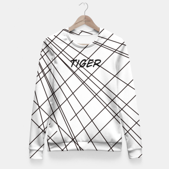 Thumbnail image of Tiger Lines Fitted Waist Sweater, Live Heroes