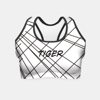 Thumbnail image of Tiger Lines Crop Top, Live Heroes