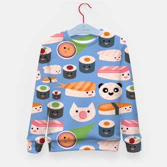 Thumbnail image of KAWAII sushi blue Kid's Sweater, Live Heroes