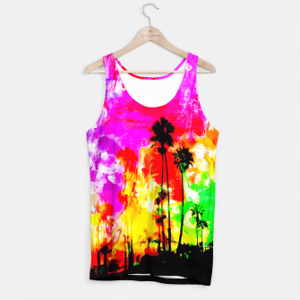 Thumbnail image of palm tree at the California beach with colorful painting abstract background Tank Top, Live Heroes