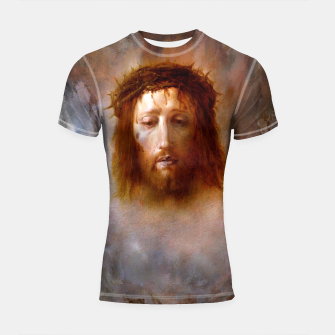 Thumbnail image of The Veil of Veronica Shortsleeve Rashguard, Live Heroes