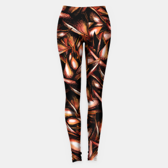Thumbnail image of Red Flower Pattern Leggings, Live Heroes