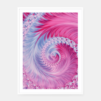Miniaturka Crystal Spiral Abstract Framed poster, Live Heroes