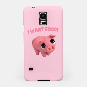 Thumbnail image of Rosa the Pig I WANT FOOD Samsung Case, Live Heroes