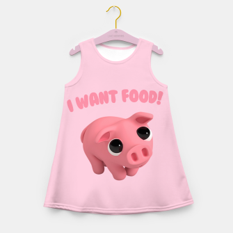 Thumbnail image of Rosa the Pig I WANT FOOD Girl's Summer Dress, Live Heroes