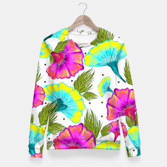 Thumbnail image of Ecstatic Floral Fitted Waist Sweater, Live Heroes