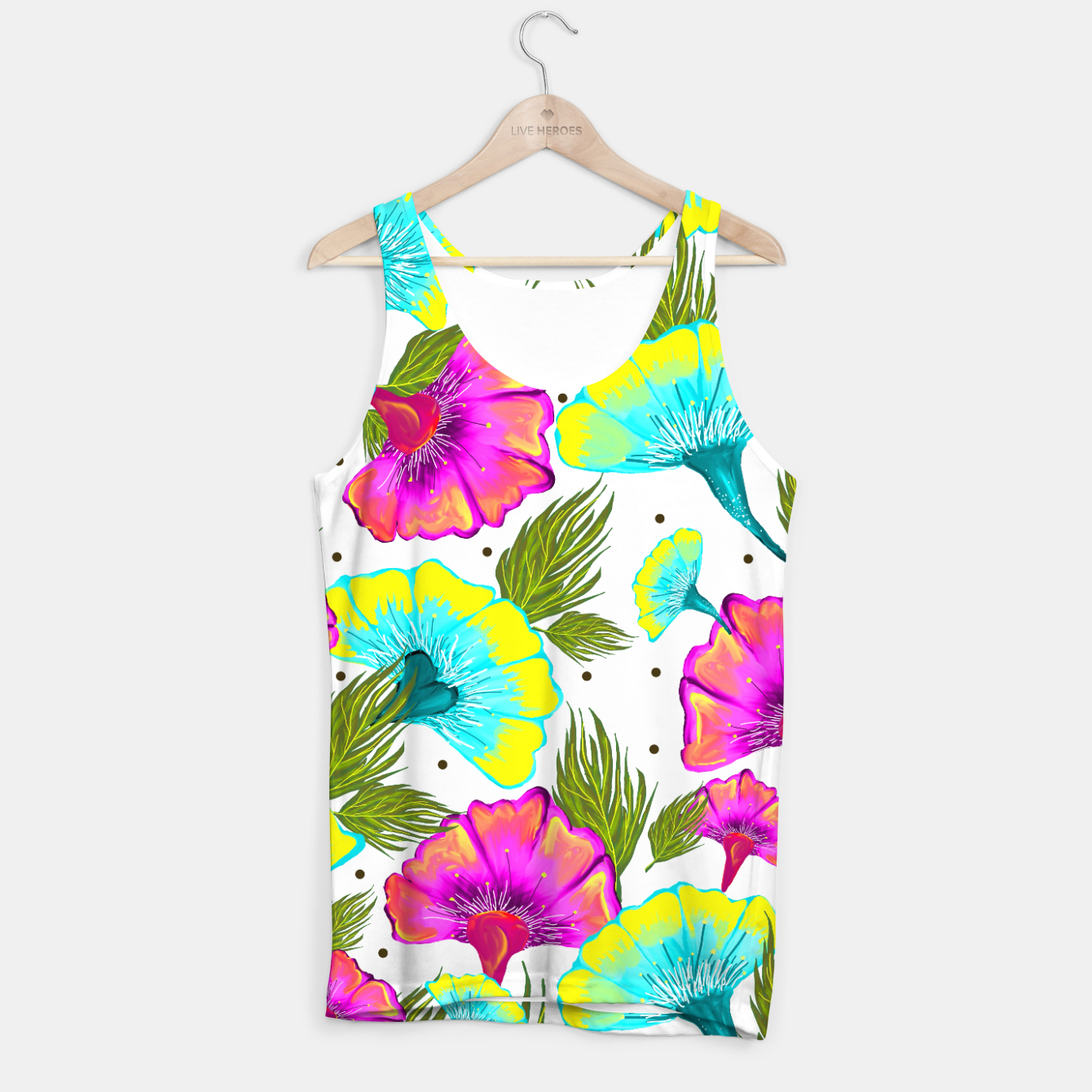 Image of Ecstatic Floral Tank Top - Live Heroes