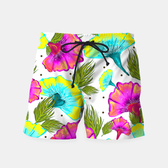 Thumbnail image of Ecstatic Floral Swim Shorts, Live Heroes