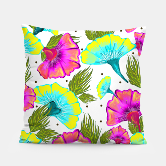 Thumbnail image of Ecstatic Floral Pillow, Live Heroes